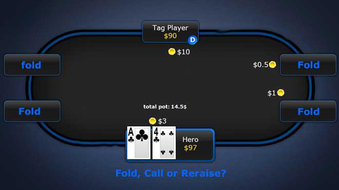 مثال مقابله با بازیکنان سفت تهاجمی پوکر - میز ۶ نفره هولدم نامحدود