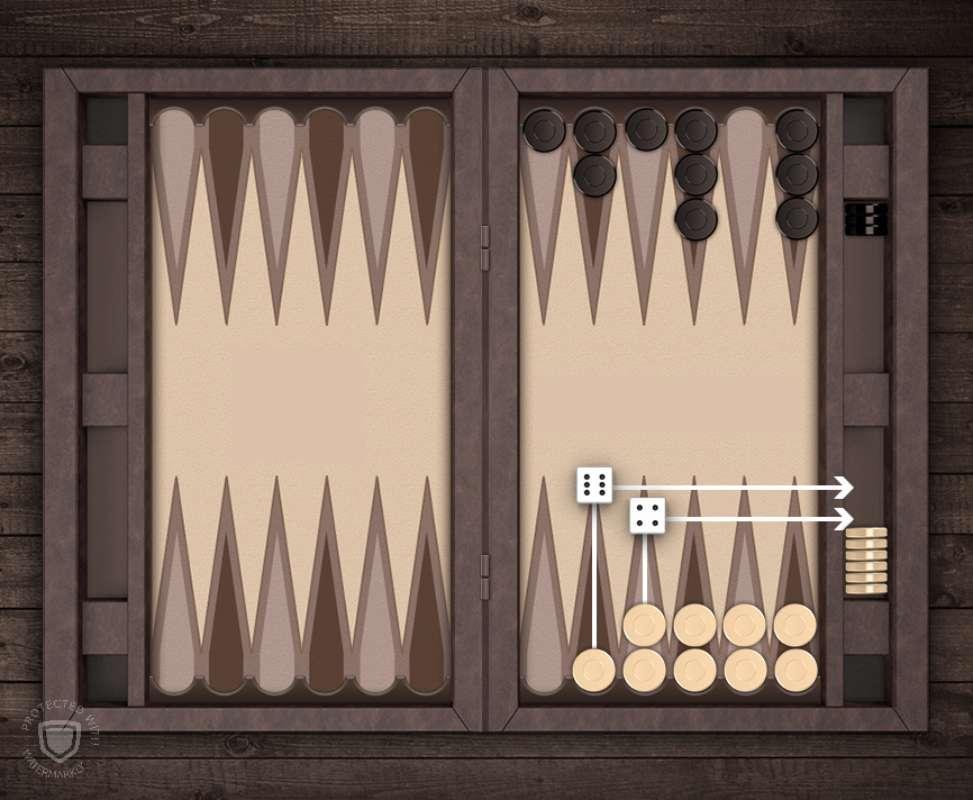 آموزش بازی تخته نرد - بیرون بردن مهره ها در تخته نرد