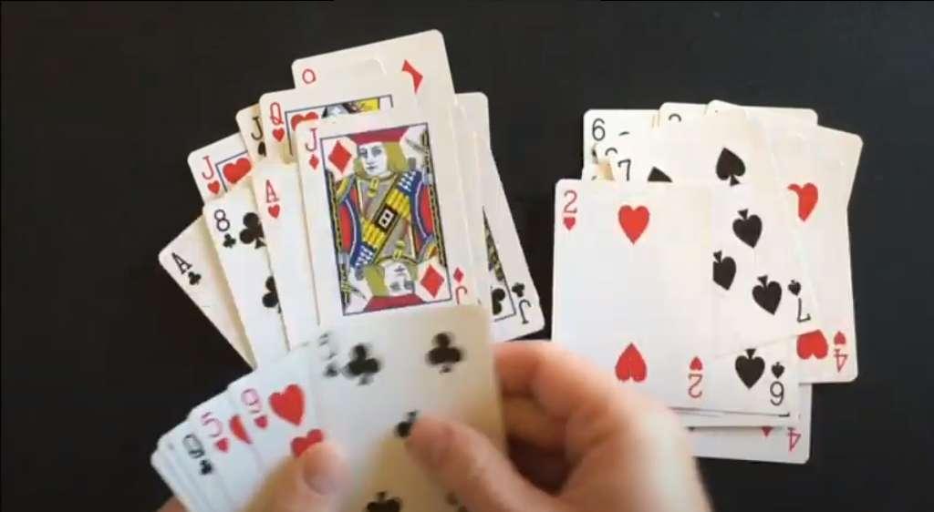 جدا کردن کارت ها در بازی فریب