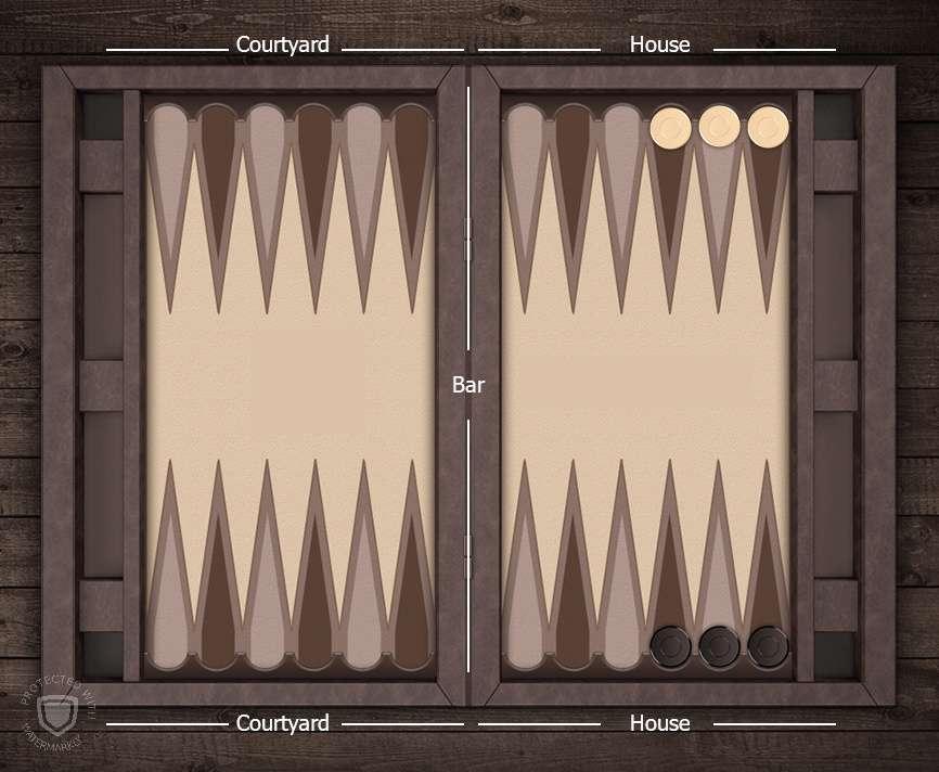 آموزش بازی تخته نرد - چینش اولیه مهره ها در نرد هایپر