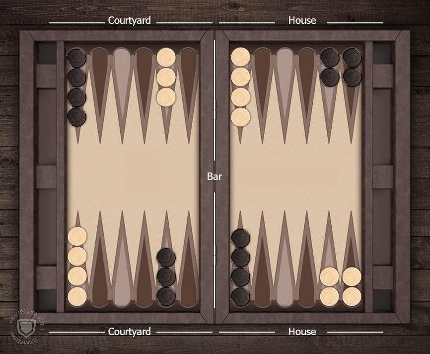 آموزش بازی تخته نرد - چینش اولیه مهره ها در نَک نرد