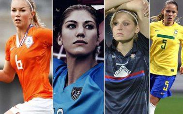 زن فوتبالی